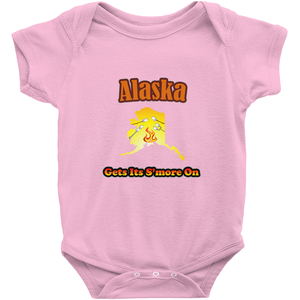 Alaska Gets Its S'more On! Novelty Infant One-Piece Baby Bodysuit - CampWildRide.com