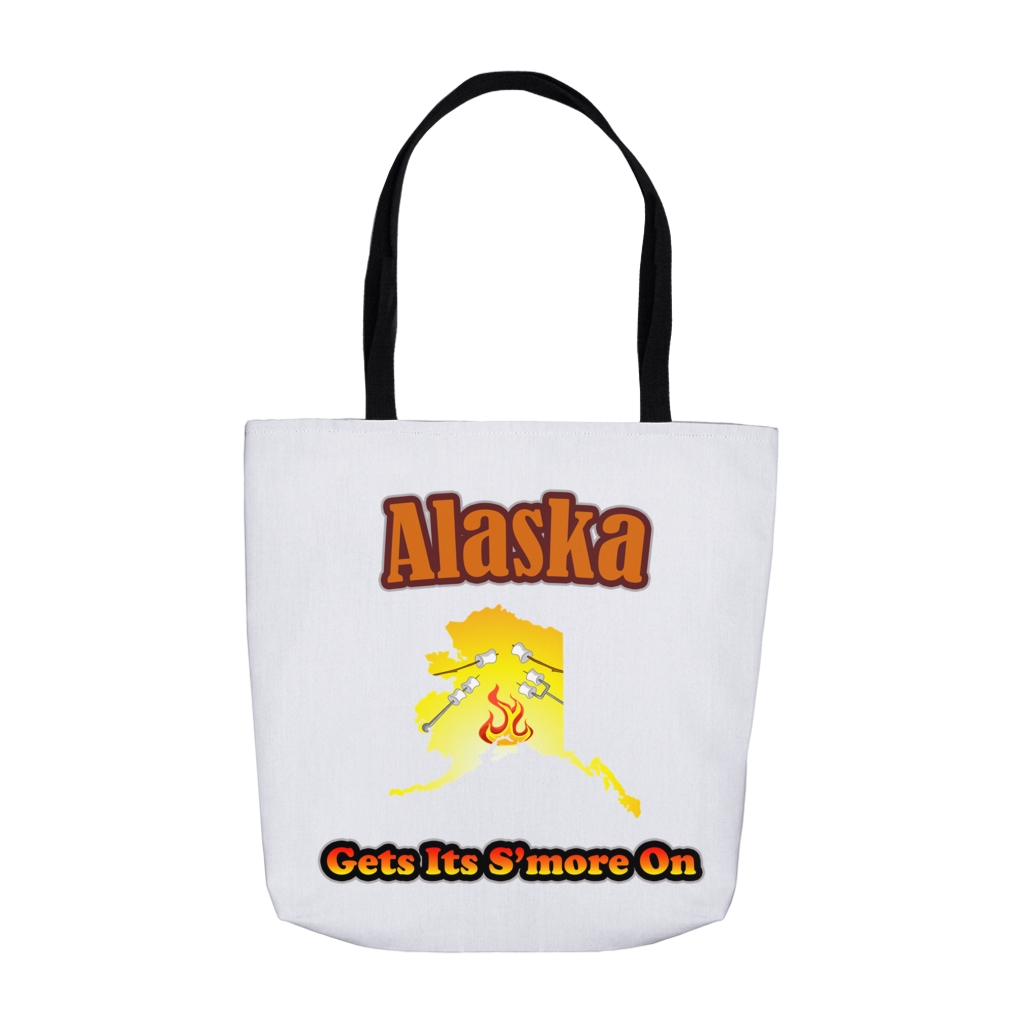 Alaska Gets Its S'more On! Novelty Funny Tote Bag Reusable - CampWildRide.com