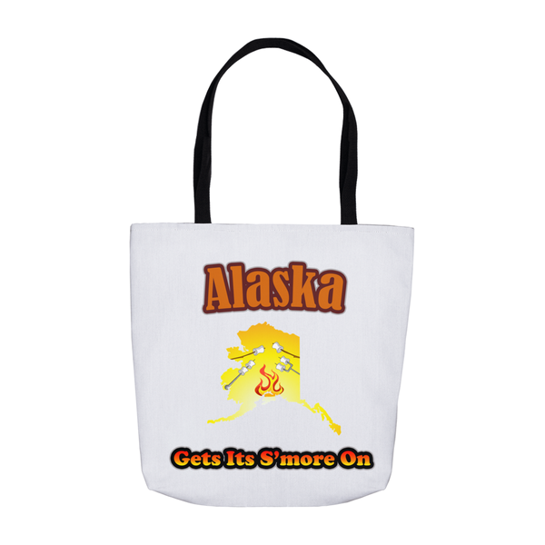 Alaska Gets Its S'more On! Novelty Funny Tote Bag Reusable