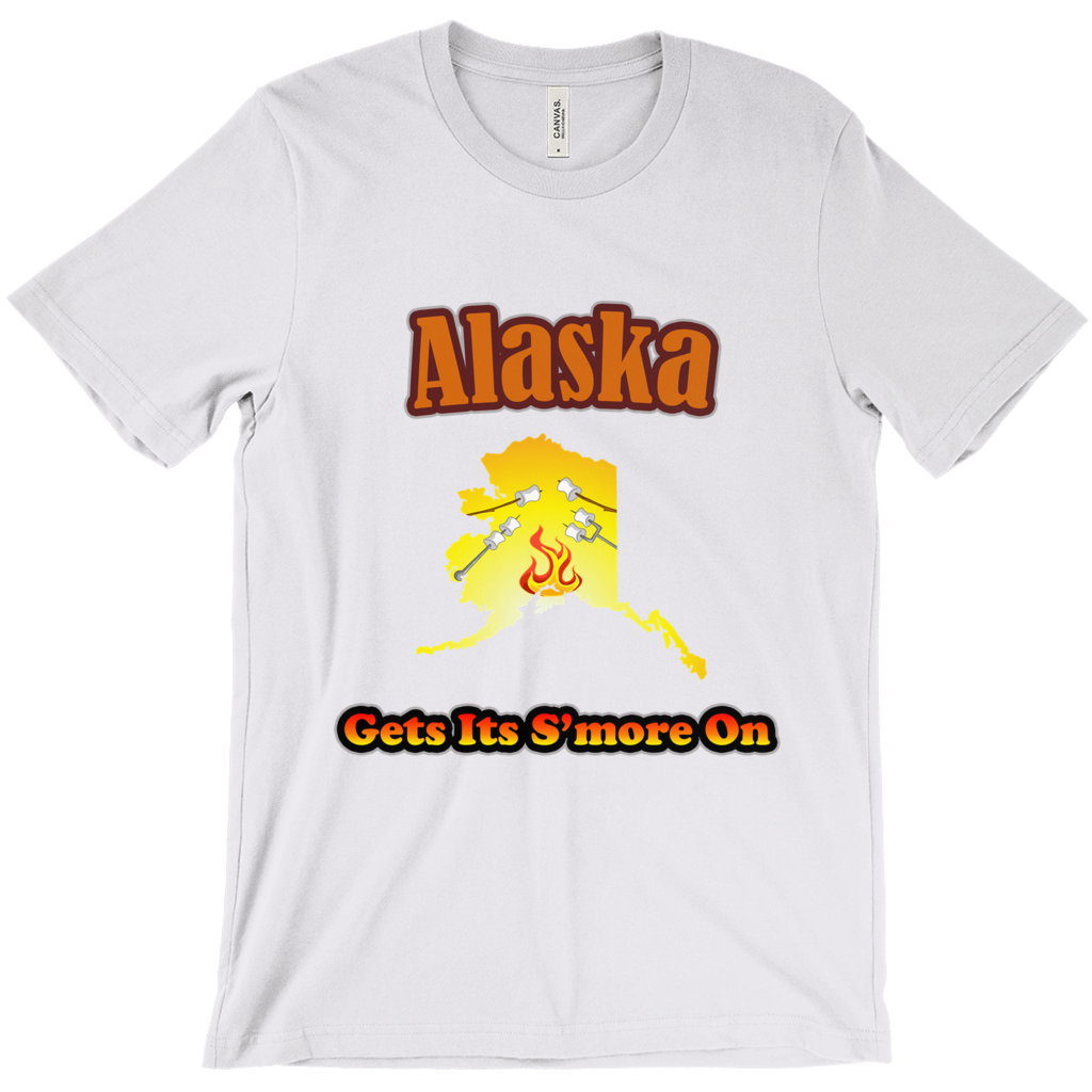 Alaska Gets Its S'more On! Novelty Short Sleeve T-Shirt - CampWildRide.com