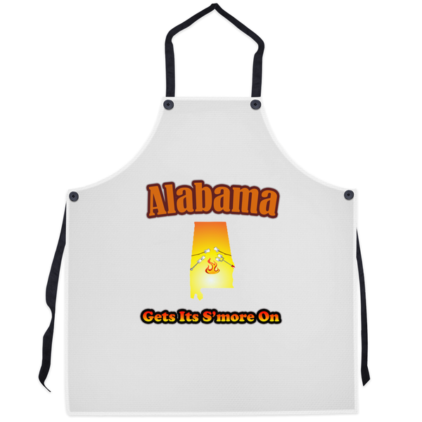 Alabama Gets Its S'more On! Novelty Funny Apron - CampWildRide.com
