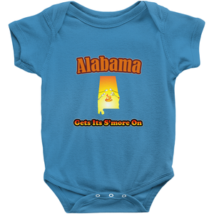 Alabama Gets Its S'more On! Novelty Infant One-Piece Baby Bodysuit - CampWildRide.com