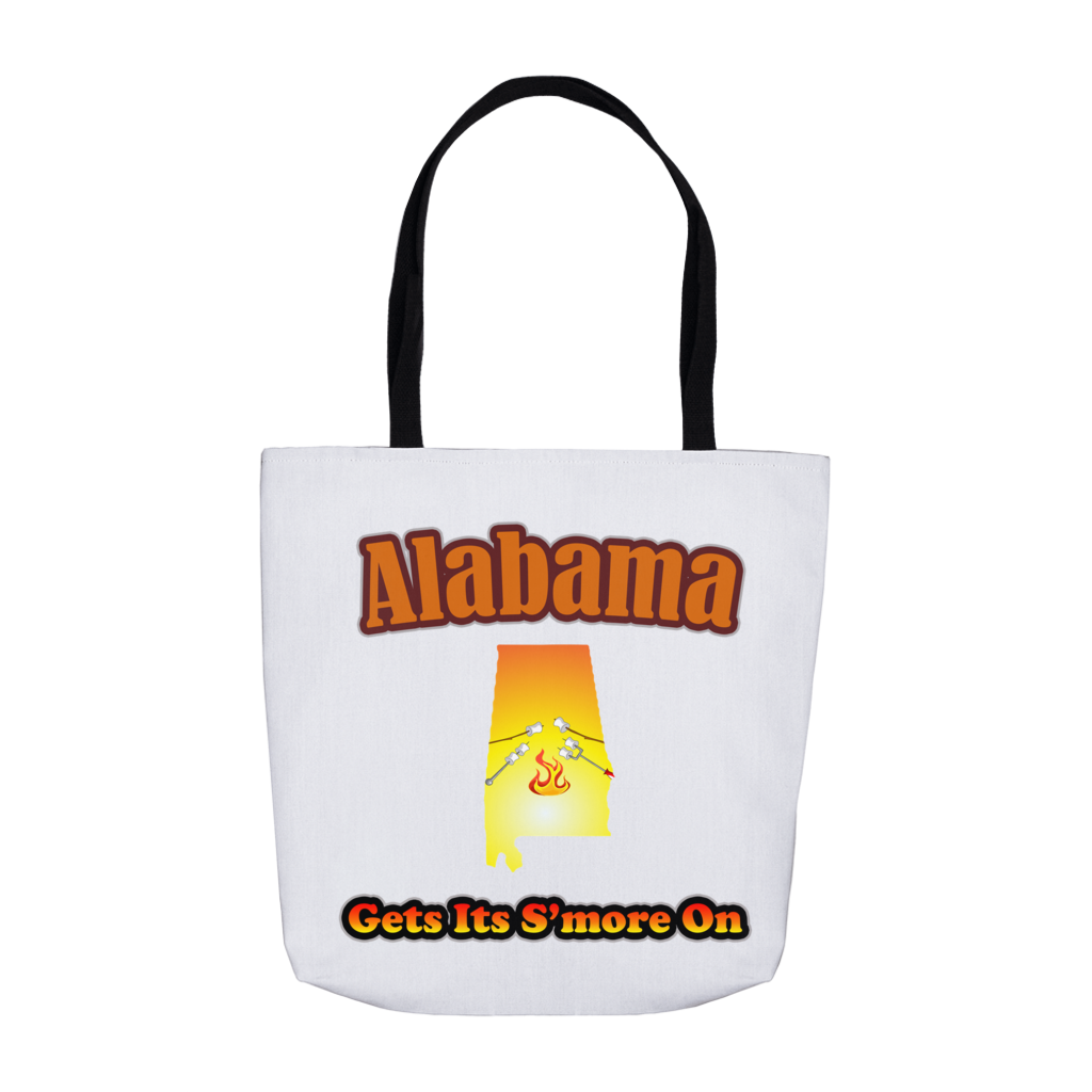 Alabama Gets Its S'more On! Novelty Funny Tote Bag Reusable - CampWildRide.com