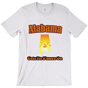 Alabama Gets Its S'more On! Novelty Short Sleeve T-Shirt - CampWildRide.com