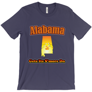 Alabama Gets Its S'more On! Novelty Short Sleeve T-Shirt
