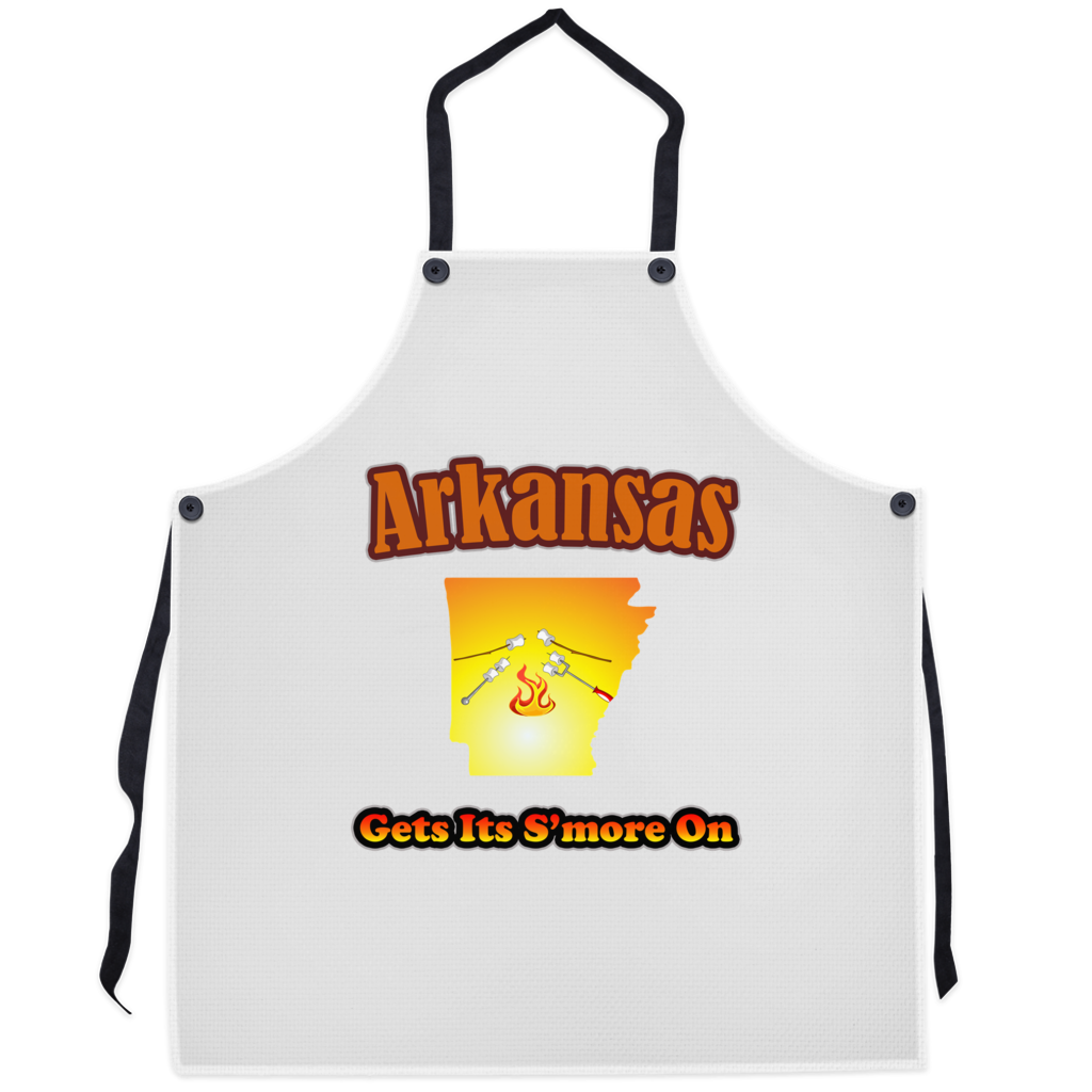Arkansas Gets Its S'more On! Novelty Funny Apron - CampWildRide.com