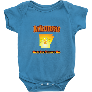 Arkansas Gets Its S'more On! Novelty Infant One-Piece Baby Bodysuit - CampWildRide.com