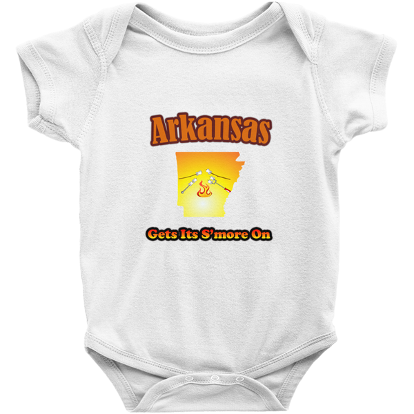 Arkansas Gets Its S'more On! Novelty Infant One-Piece Baby Bodysuit