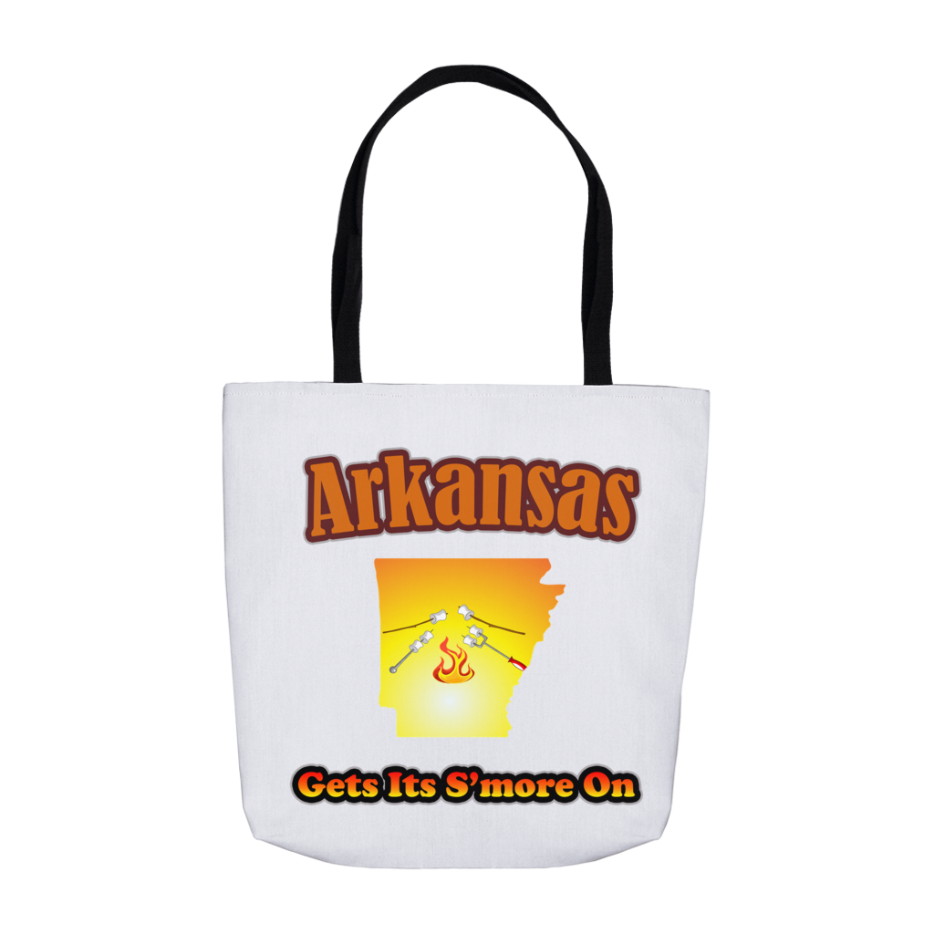 Arkansas Gets Its S'more On! Novelty Funny Tote Bag Reusable - CampWildRide.com