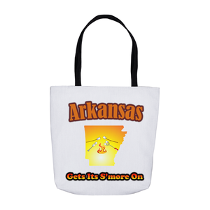 Arkansas Gets Its S'more On! Novelty Funny Tote Bag Reusable