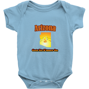 Arizona Gets Its S'more On! Novelty Infant One-Piece Baby Bodysuit - CampWildRide.com