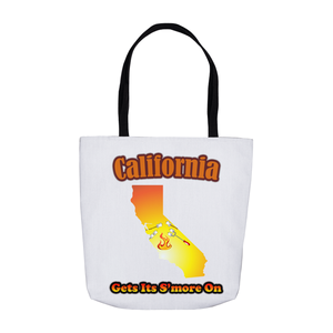 California Gets Its S'more On! Novelty Funny Tote Bag Reusable - CampWildRide.com