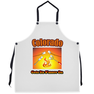 Colorado Gets Its S'more On! Novelty Funny Apron - CampWildRide.com