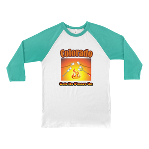 Colorado Gets Its S'more On! Novelty Baseball Tee (3/4 sleeves) - CampWildRide.com