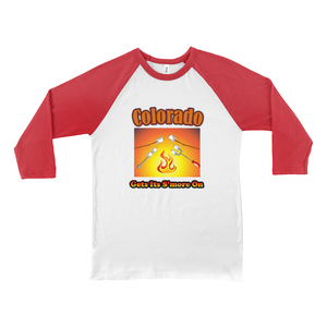 Colorado Gets Its S'more On! Novelty Baseball Tee (3/4 sleeves)