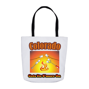 Colorado Gets Its S'more On! Novelty Funny Tote Bag Reusable - CampWildRide.com