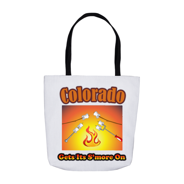 Colorado Gets Its S'more On! Novelty Funny Tote Bag Reusable
