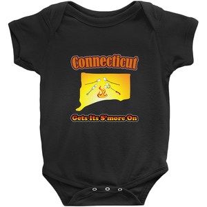 Connecticut Gets Its S'more On! Novelty Infant One-Piece Baby Bodysuit