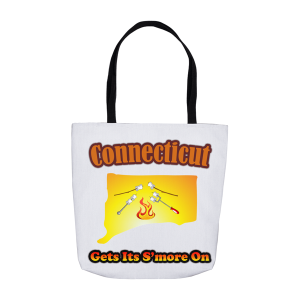 Connecticut Gets Its S'more On! Novelty Funny Tote Bag Reusable