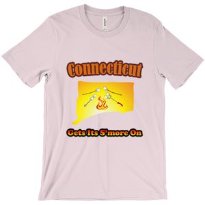 Connecticut Gets Its S'more On! Novelty Short Sleeve T-Shirt - CampWildRide.com