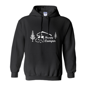 Happy Camper! Novelty Hoodies (No-Zip/Pullover)