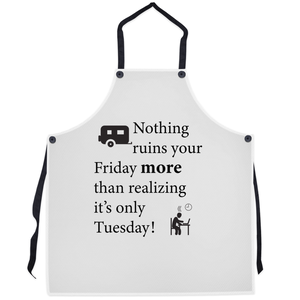 Nothing ruins your Friday more! Novelty Funny Apron - CampWildRide.com