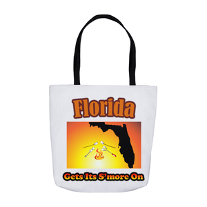 Florida Gets Its S'more On! Novelty Funny Tote Bag Reusable - CampWildRide.com