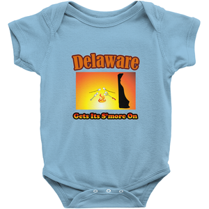 Delaware Gets Its S'more On! Novelty Infant One-Piece Baby Bodysuit - CampWildRide.com