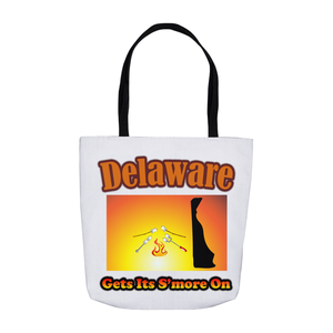 Delaware Gets Its S'more On! Novelty Funny Tote Bag Reusable - CampWildRide.com