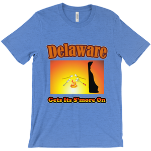 Delaware Gets Its S'more On! Novelty Short Sleeve T-Shirt
