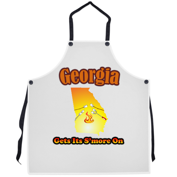 Georgia Gets Its S'more On! Novelty Funny Apron - CampWildRide.com