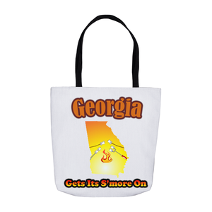 Georgia Gets Its S'more On! Novelty Funny Tote Bag Reusable - CampWildRide.com