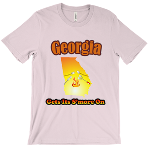 Georgia Gets Its S'more On! Novelty Short Sleeve T-Shirt
