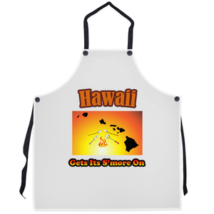 Hawaii Gets Its S'more On! Novelty Funny Apron - CampWildRide.com