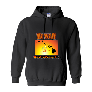 Hawaii Gets Its S'more On! Novelty Hoodies (No-Zip/Pullover)