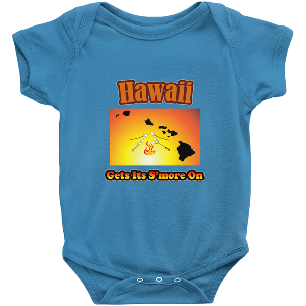 Hawaii Gets Its S'more On! Novelty Infant One-Piece Baby Bodysuit