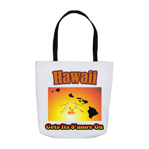 Hawaii Gets Its S'more On! Novelty Funny Tote Bag Reusable - CampWildRide.com