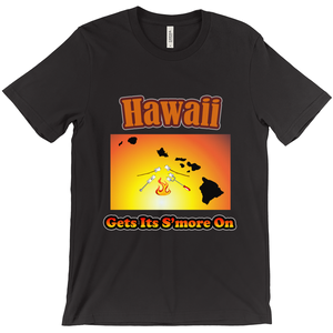 Hawaii Gets Its S'more On! Novelty Short Sleeve T-Shirt - CampWildRide.com