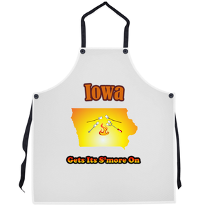 Iowa Gets Its S'more On! Novelty Funny Apron - CampWildRide.com