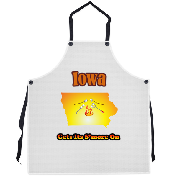 Iowa Gets Its S'more On! Novelty Funny Apron