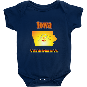 Iowa Gets Its S'more On! Novelty Infant One-Piece Baby Bodysuit - CampWildRide.com