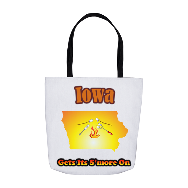 Iowa Gets Its S'more On! Novelty Funny Tote Bag Reusable - CampWildRide.com