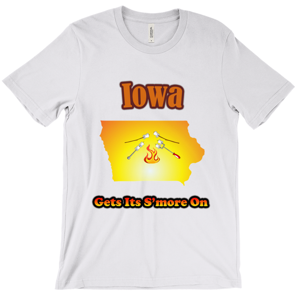 Iowa Gets Its S'more On! Novelty Short Sleeve T-Shirt - CampWildRide.com