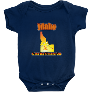 Idaho Gets Its S'more On! Novelty Infant One-Piece Baby Bodysuit - CampWildRide.com