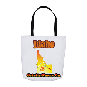 Idaho Gets Its S'more On! Novelty Funny Tote Bag Reusable - CampWildRide.com