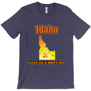 Idaho Gets Its S'more On! Novelty Short Sleeve T-Shirt