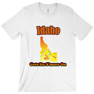 Idaho Gets Its S'more On! Novelty Short Sleeve T-Shirt - CampWildRide.com