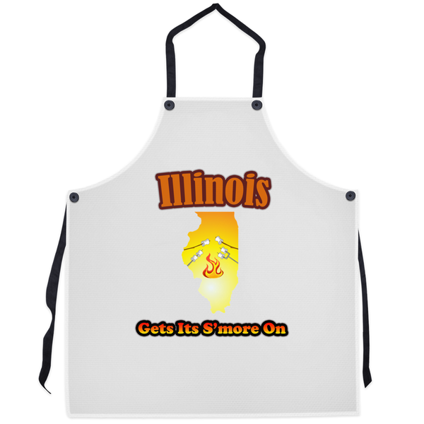 Illinois Gets Its S'more On! Novelty Funny Apron - CampWildRide.com