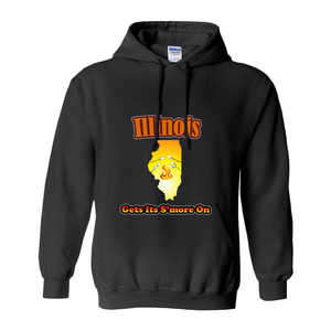 Illinois Gets Its S'more On! Novelty Hoodies (No-Zip/Pullover) - CampWildRide.com