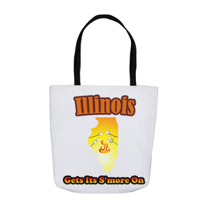 Illinois Gets Its S'more On! Novelty Funny Tote Bag Reusable - CampWildRide.com